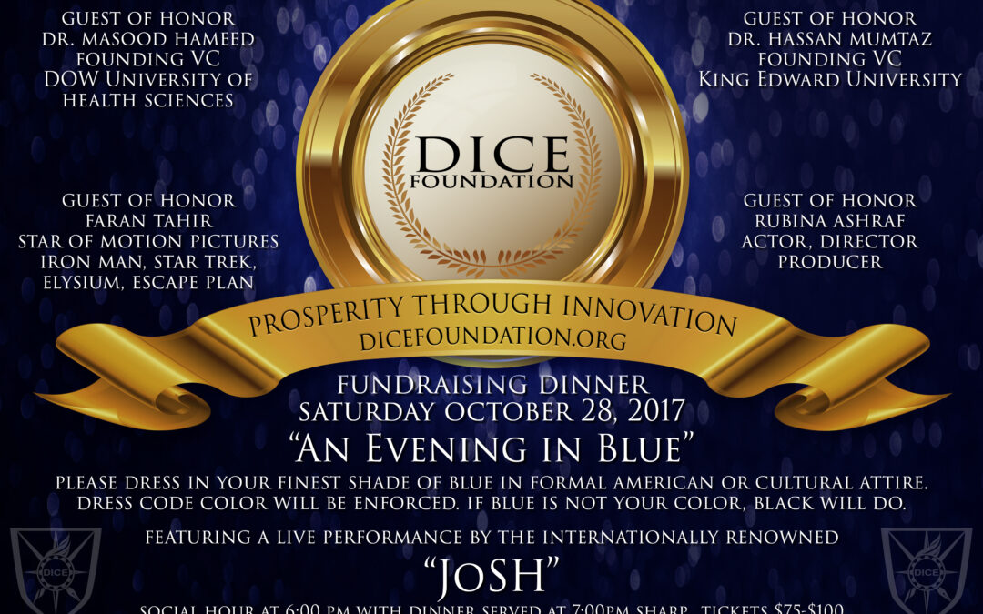 DICE Foundation Annual Fundraising and Banquet on Oct 28, 2017 in Michigan