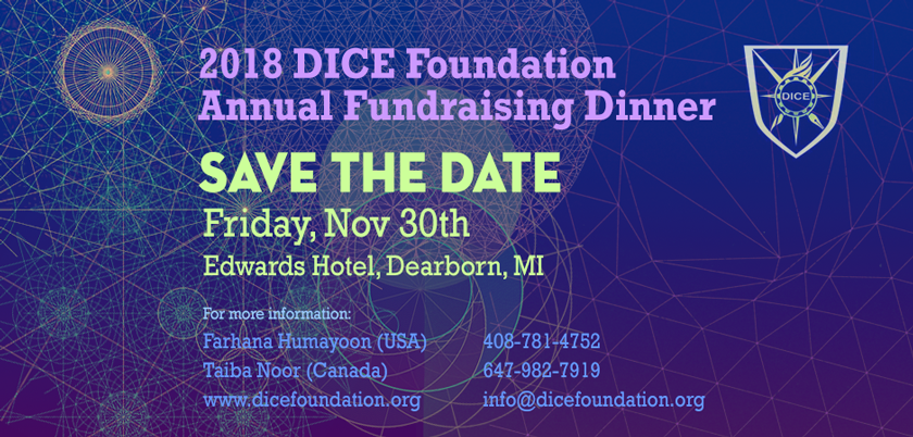 DICE Foundation Annual Fundraising Dinner 2018 – Friday Nov 30, 2018