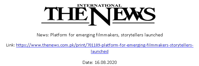 Pakistan's First Platform for Emerging Filmmakers and Storytellers, 'iRINSTRA' Launched.